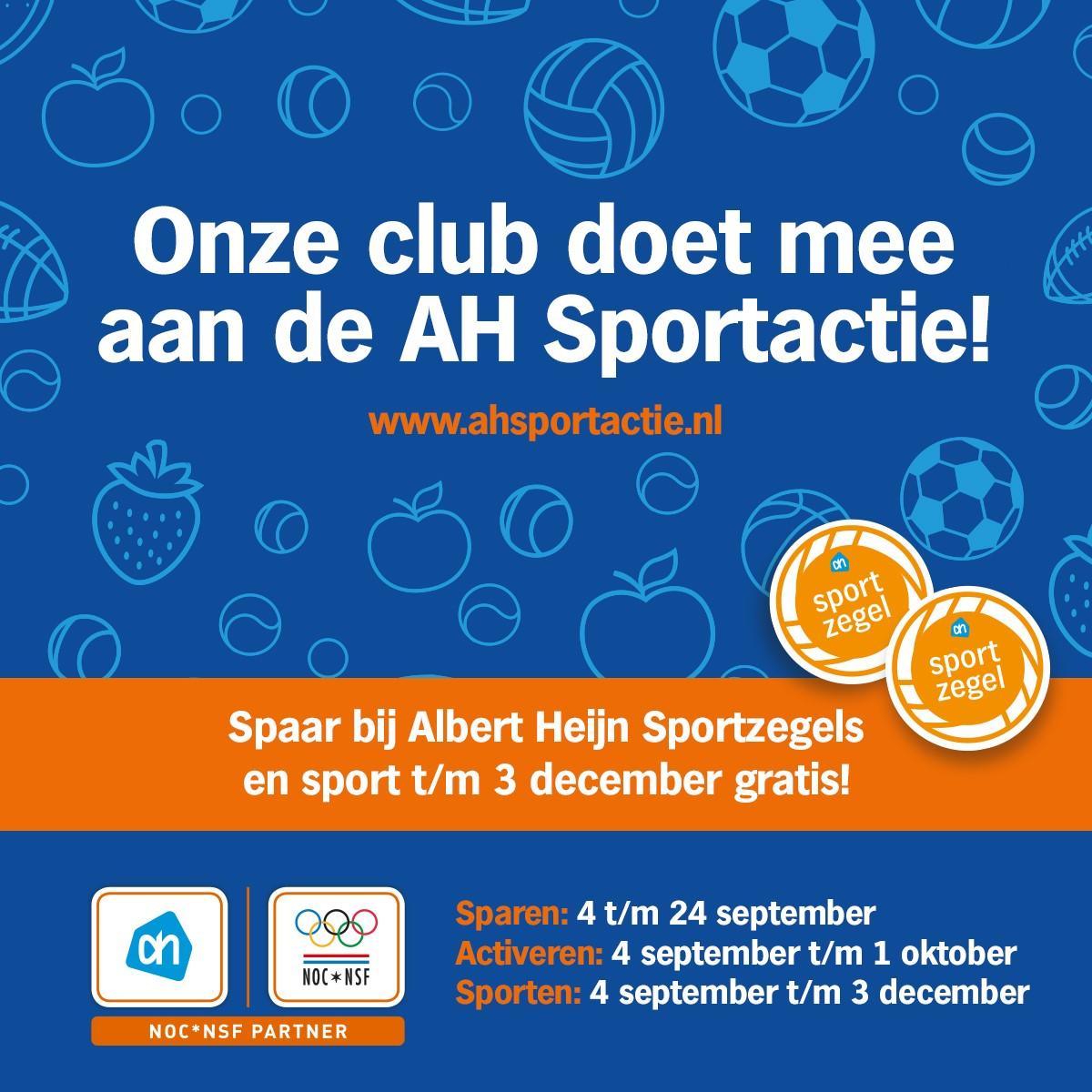 AH Sportactie - onze club doet mee