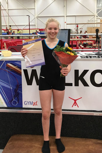 Yerusha Messelink haalt KSS1-diploma bij GymXL