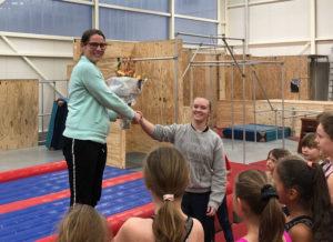 GymXL-trampolinetrainster Marieke van Veen haalt KSS3-diploma
